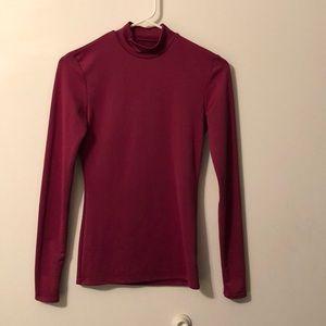 Champion Purple Long Sleeve Spandex Exercise Shirt
